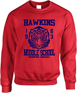 Allntrends Adult Crewneck Sweatshirt Hawkins Middle School 1983