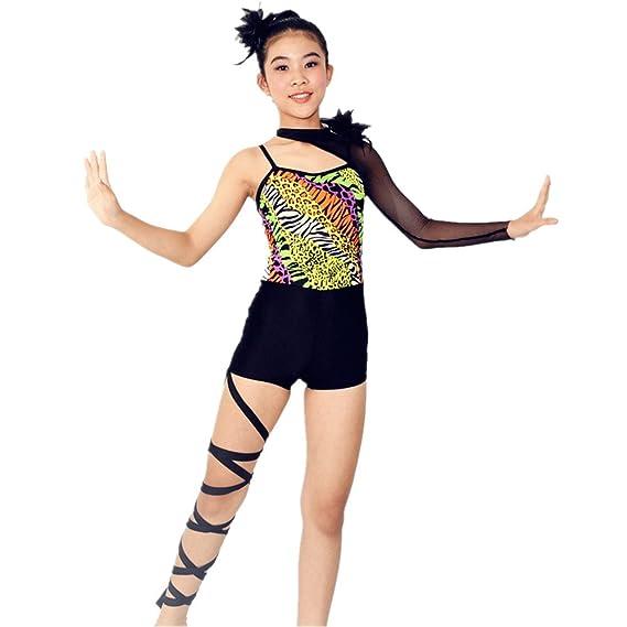 Midee Acro Dance Costume Fishnet Sleeve Leg Banded Amazon Uk