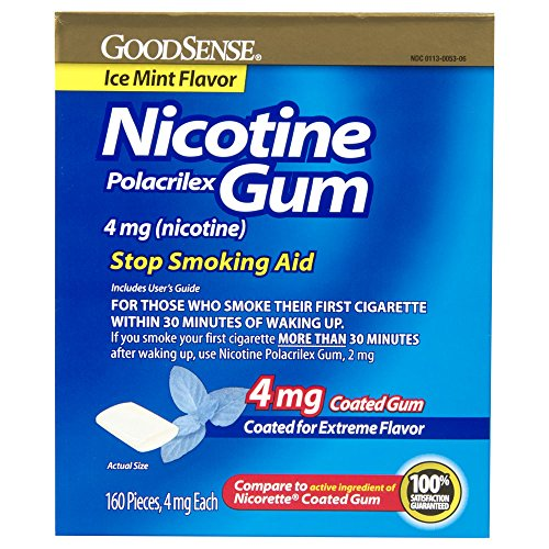 GoodSense Nicotine Polacrilex Gum, Ice Mint, 160 Count