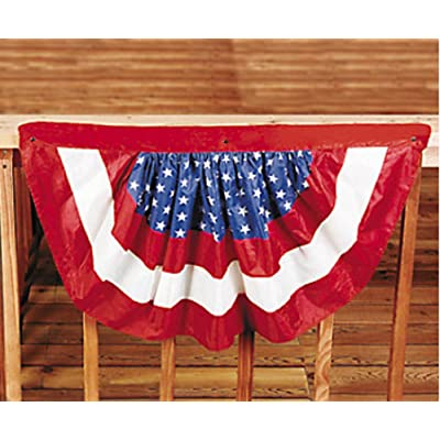 Unbranded 2 Patriotic Bunting American 4th of July Party Banner Flag Decor Porch Balcony: Toys & Games