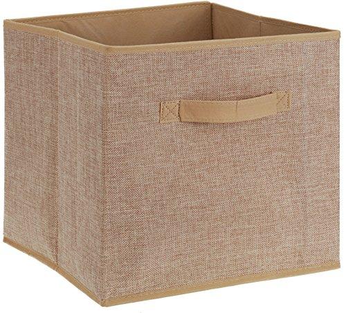 Faltbox Aufbewahrungsbox Textilbox Textil 30 X 30 X 30 Cm Hellbraun