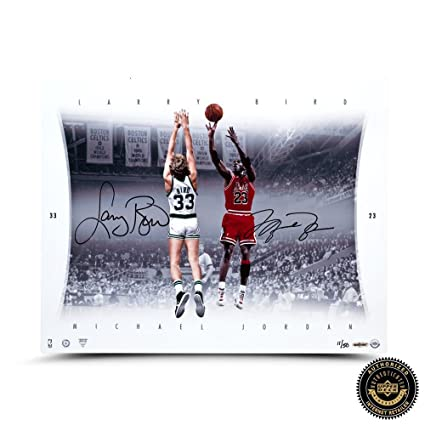 nouveau style 94586 321e1 Michael Jordan & Larry Bird Signed