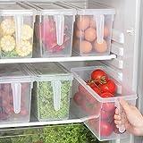Food Storage Boxes With Lids Freezer Safe Volwco 3 Pcs 4.7L Large Plastic Kitchen Refrigerator Stackable Food Fruit…