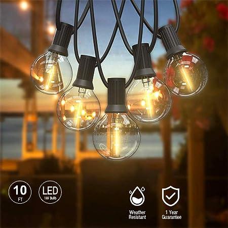 Egosy Luces de Hadas Fuera de Las Bombillas jardín Luces de Hadas terraza Fuera de Las Luces de Hadas Dentro/Fuera para Navidad, Boda, Fiesta: Amazon.es: Hogar