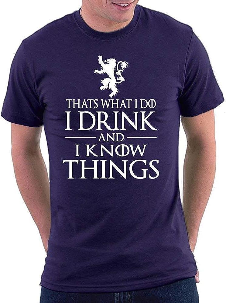 KLING CONSIGO Eso es lo Que Hago, Bebo y sé Cosas Tyrion Camiseta: Amazon.es: Ropa y accesorios