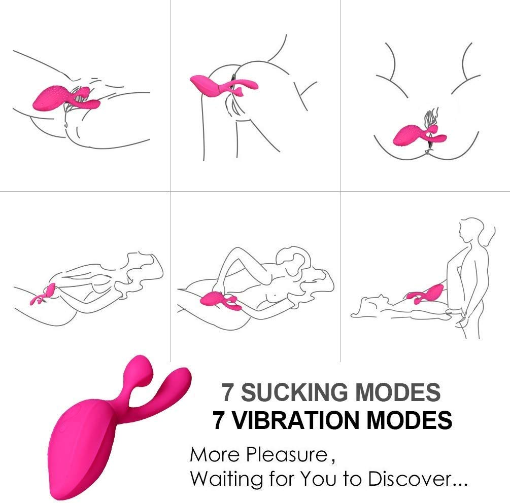 Upgraded Portable 7 Vibrtion & Sucking Modes USB Rechargeable G Fun Toys for Women Waterproof & Whisper Quiet Best Gifts by Vital1ty