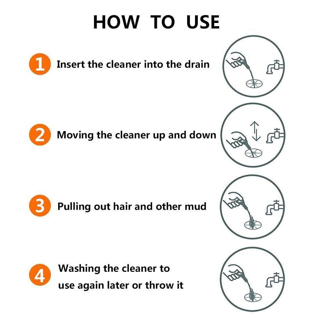 Tube Drain Cleaning JPISABB Drain Snake Clog Remover Drain Snake,Drain Snake Hair Drain Clog Tool Snake Drain Relief Cleaner Tool for Sink