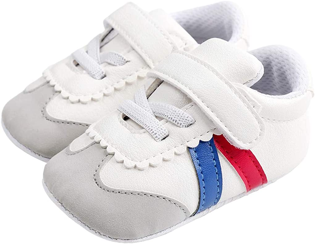 ESTAMICO Baby Boys Girls Toddler Sneaker Anti-Slip First Walkers Crib Shoes
