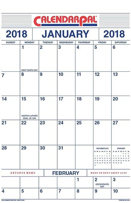 amazon com 2018 wall calendar junior size 11 x 17 office