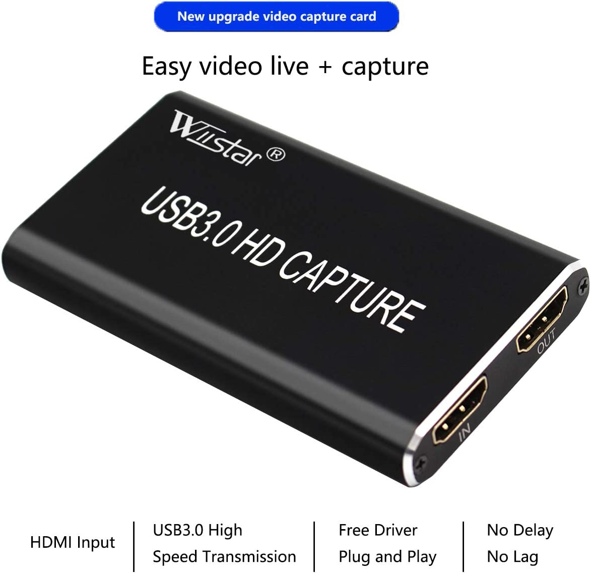 1080P hdmi usb video capture card use without computer game recorder PlayBack
