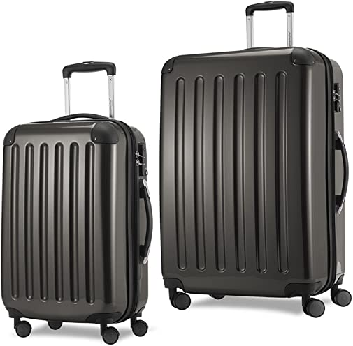 HAUPTSTADTKOFFER Luggages Sets Glossy Suitcase Sets Hardside Spinner Trolley Expandable TSA 20 28 Graphite