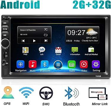 2 DIN Android Radio de Coche GPS 2G+32G CAMECHO Pantalla Táctil ...