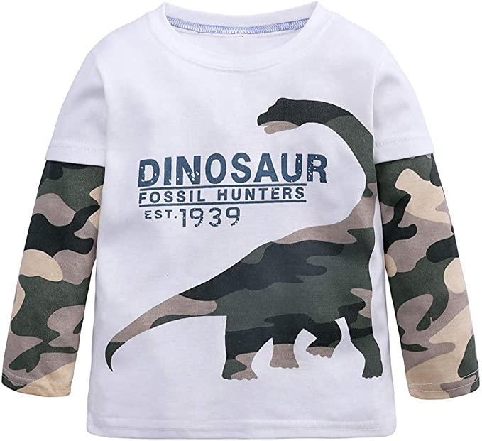 Subfamily Camisa de Bebe Camiseta de Manga Larga con Estampado de Dinosaurios y Dibujos Animados, para niños, Dinosaur 2 a 7 años: Amazon.es: Ropa y accesorios