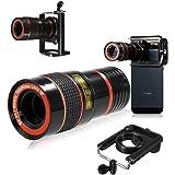 CAMTOA Universel 8x Zoom lentille optique télescope téléobjectif lentille de focalisation pour téléphone cellulaire intelligent caméra / Lens + Cover