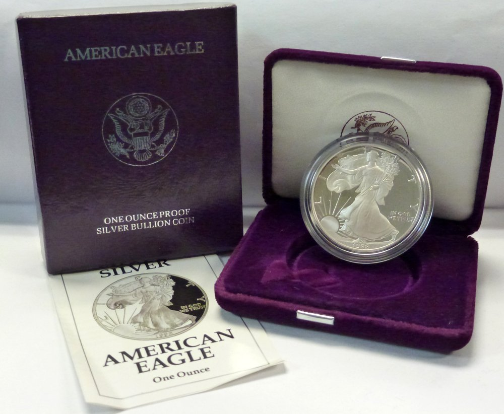 1996 P Proof Silver American Eagle Dollar US Mint $1 ASE Coin