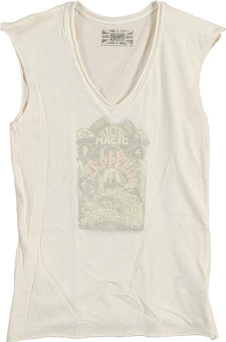 0f618bdd3cca7 Amazon.com  Led Zeppelin Women s Reverse Print Babydoll Large White   Clothing