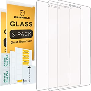 [3-PACK]- Mr.Shield For Lenovo K6 Note [Tempered Glass] Screen Protector [0.3mm Ultra Thin 9H Hardness 2.5D Round Edge] with Lifetime Replacement