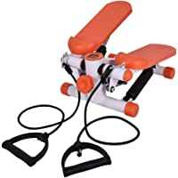 Mini Walking Stepping Machine,Low Noise Up-down Pedal Exerciser Swing Stepper Body-Building Sports Training Equippment with Power Ropes for Home Gym,100kg Capacity