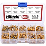 Hilitchi 550Pcs 0.1uF-10uF Dip Monolithic Multilayer Ceramic Chip Capacitors Assortment Kit