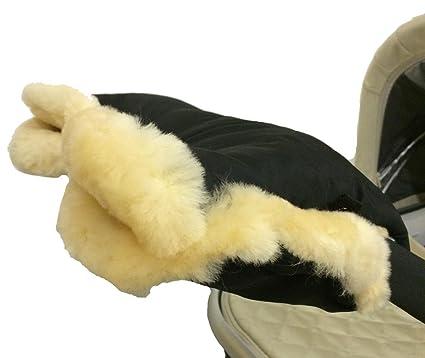 mee-go negro lujo negro 100% de piel de oveja, Universal ...