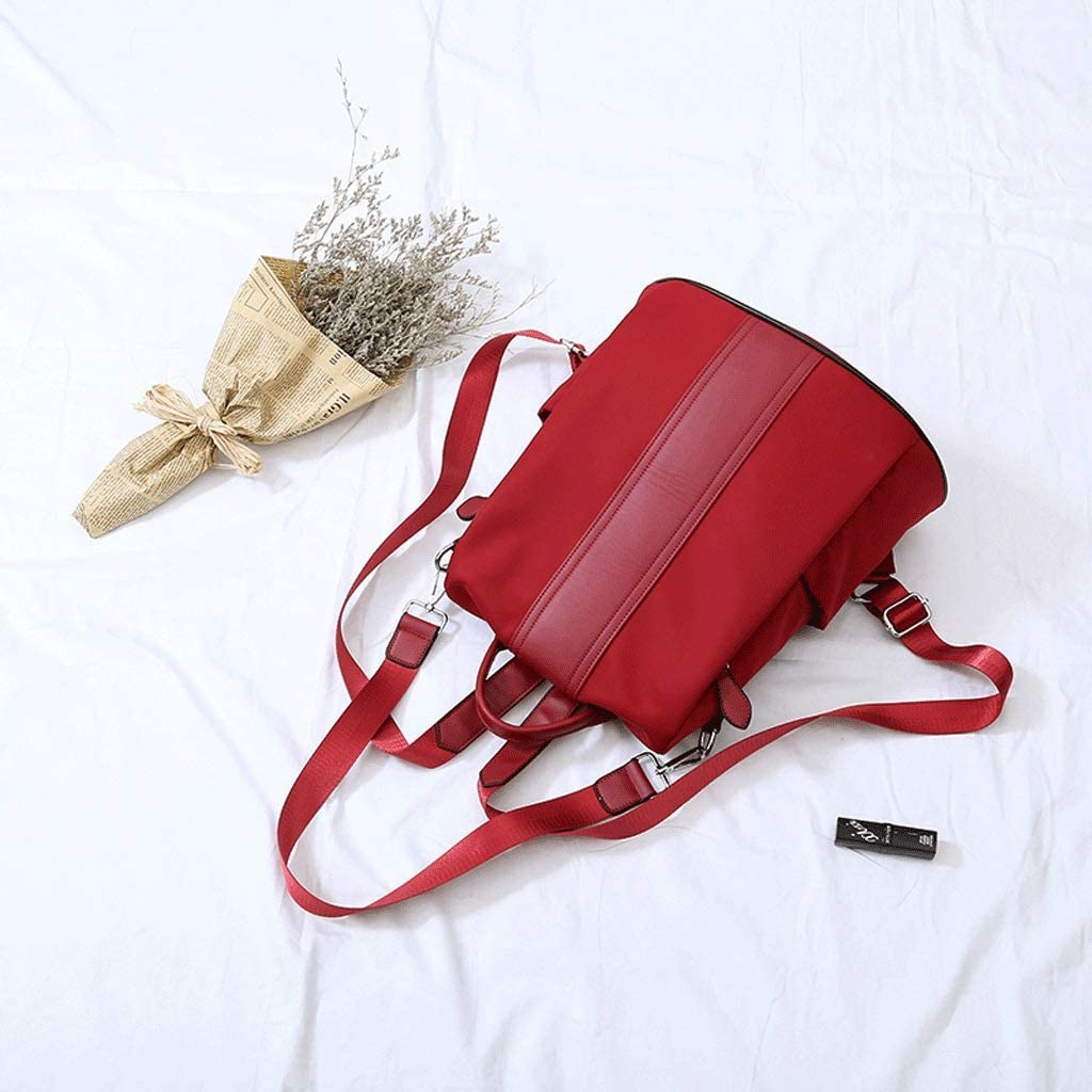 Color : Red SLH British Backpack Wild Anti-Theft Travel Backpack Leisure Travel