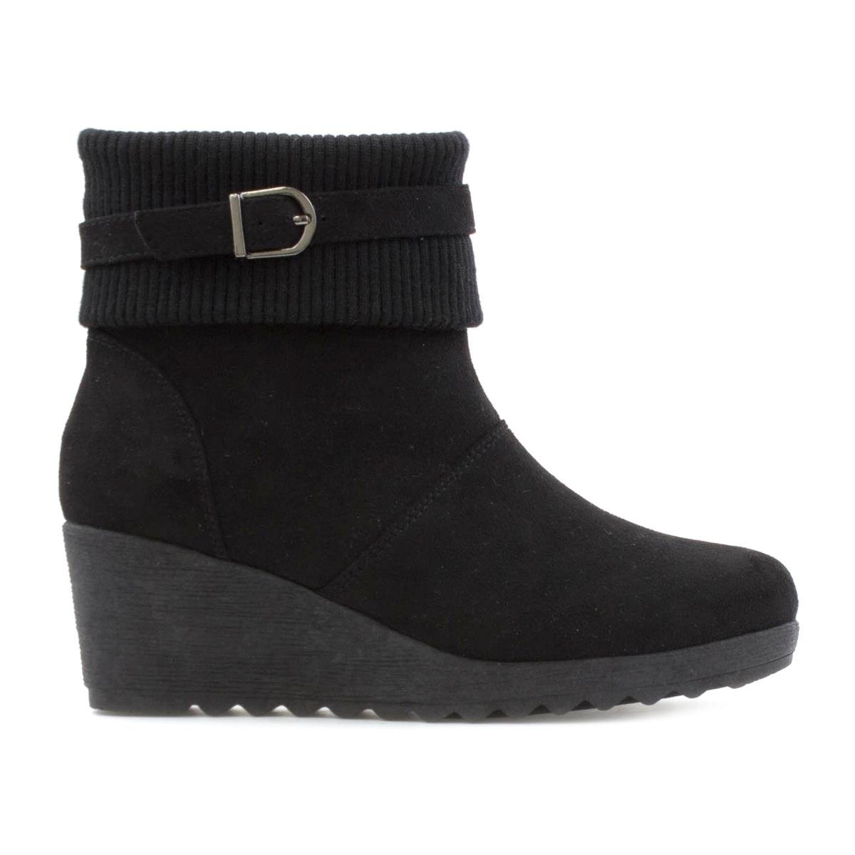 e5f0a8d09e0 Lilley Womens Wedge Ankle Boot in Black - Size 9 UK - Black  Amazon.co.uk   Shoes   Bags