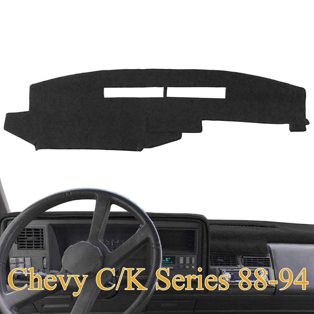 Beige Custom Made Premium Carpet Dash Cover Mat for 1988-1994 Chevy Silverado Pickup