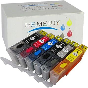 Amazon.com: HEMEINY - Cartucho de tinta recargable para ...