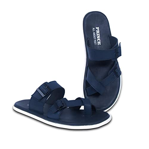 7b70b0b513f Prince Casual Blue Color Stylish Sandals Chappal for Men and Boys  Buy  Online at Low Prices in India - Amazon.in