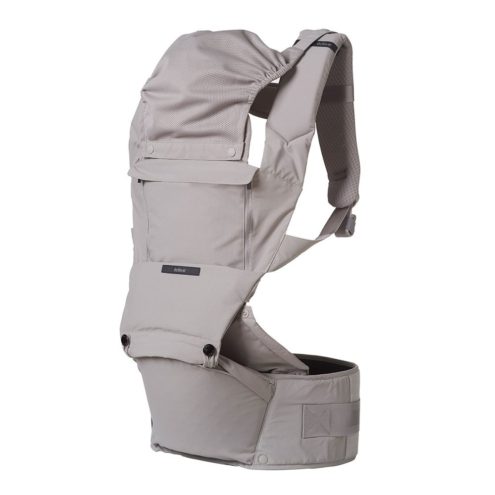 CLEVE Pulse Ultimate Comfort Hip Seat Baby Carrier Award-Winning Hip Healthy Front Back Carry 9 Positions Safety Certified Up to 45 lbs Dove