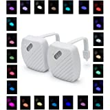 Toilet Night light, Homay 24-Color Motion Activated Toilet Nightlight Bathroom Bowl LED Nightlight 2 Pack