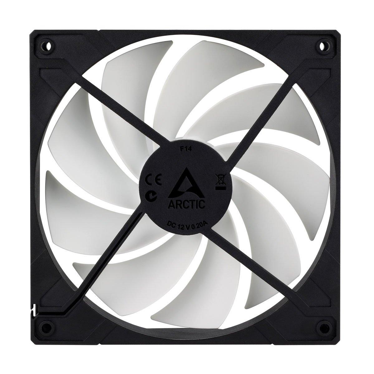 Ventilateur pour bo/îtier de 140 mm /à hautes performances avec flux d/'air et pression statique /élev/és ARCTIC F14 Pack de 5 connecteur /à broches