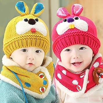 c453dba4 Custom Extra 2 Pcs/ Set Hat and Scarf Set Cute Lovely Baby Warm Winter Cap