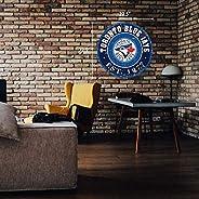 "Toronto Blue Jays 22"" Round PVC Distressed Logo Wall"