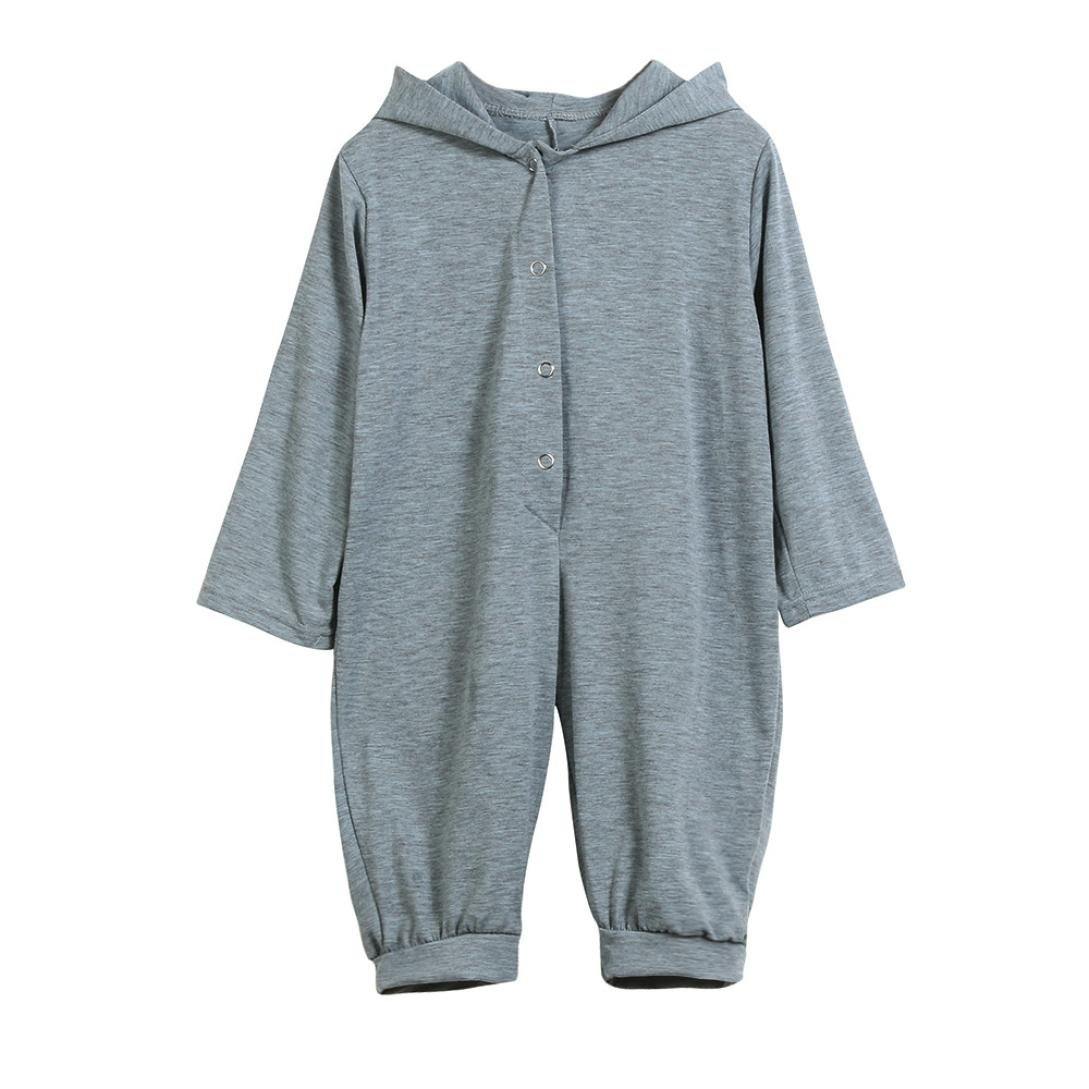 Iuhan Dinosaur Newborn Infant Baby Boy Girl Hooded Romper Jumpsuit Outfits Clothes