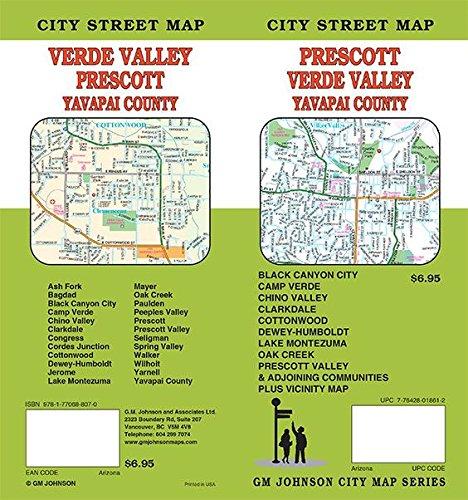 Prescott / Camp Verde / Cottonwood / Chino Valley, Arizona Street Map