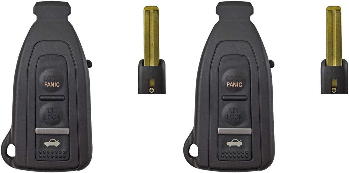 QualityKeylessPlus Replacement Smart Remote Case 3 Button Pad Uncut Slide Blade For Lexus LS430 HYQ12BZE 1