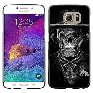 FU-Orionis Colorful Printed Hard Protective Back Case Cover Shell Skin for Samsung Galaxy S6 - Goth Dark Skull Skeleton Tuxedo