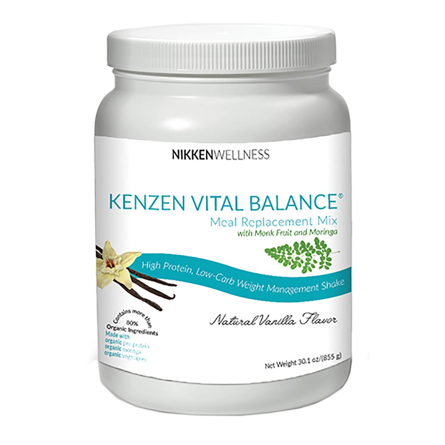 Nikken Kenzen Vital Balance® Meal Replacement Mix 30 oz - Vanilla Flavor by Nikken (Image #1)
