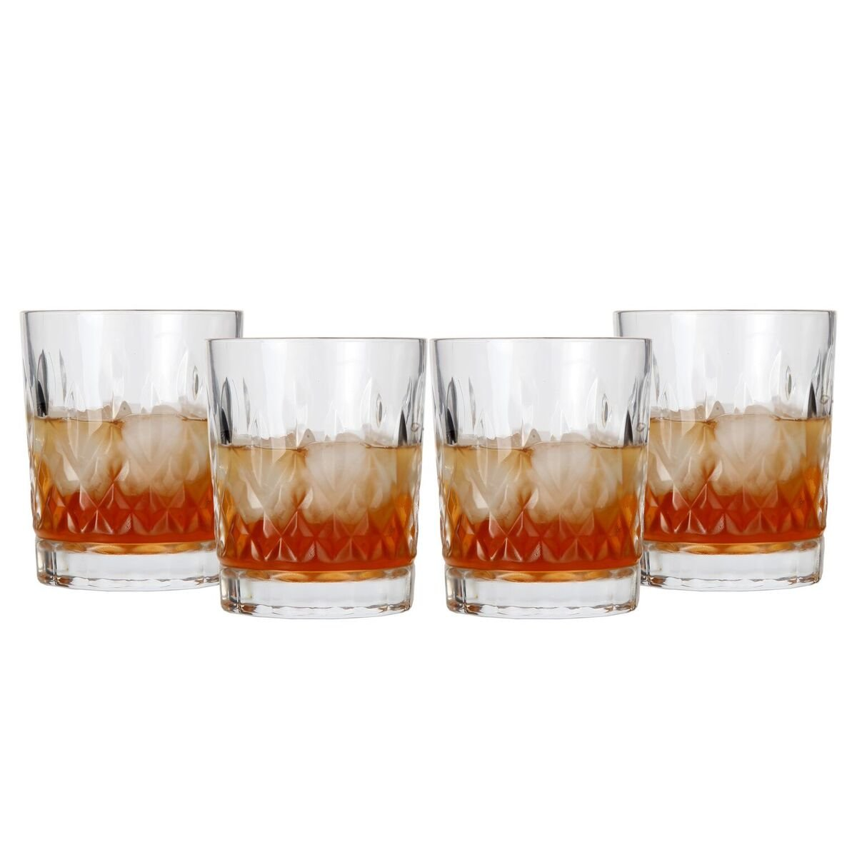 ideal for Whiskey Lilys Home Old Fashioned Whiskey Glasses Lily/'s Home SW623 Bourbon 11oz each, Set of 2 or Cocktails