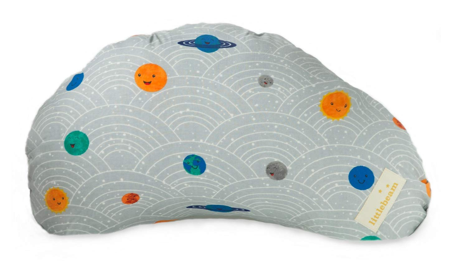 littlebeam Portable Baby Breastfeeding Nursing Support Pillow with Memory Foam (Space)