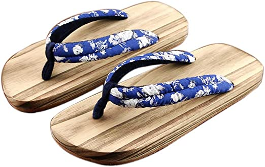 Men/'s New Traditional Japanese Style Sandals Wooden Clogs Sandals Geta Sandals