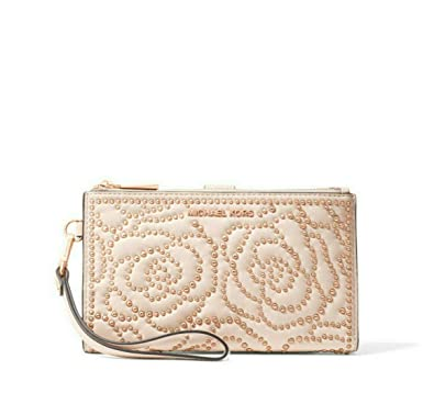 6d95ec1b22f7c3 Amazon.com: MICHAEL Michael Kors Adele Rose Studded Leather Smartphone  Wallet in Soft Pink: Shoes