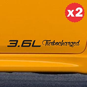3.6L Turbocharged engine size displacement sticker decal side body hemi coupe 12 inch (width