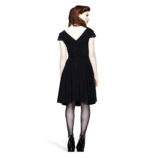 Hell Bunny - vestido rockabilly Evie - espalda descubierta: Amazon.es: Ropa y accesorios