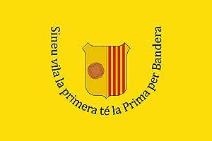 magFlags Bandera Large Sinéu, Islas Baleares, España | Bandera Paisaje | 1.35m² | 90x150cm: Amazon.es: Jardín