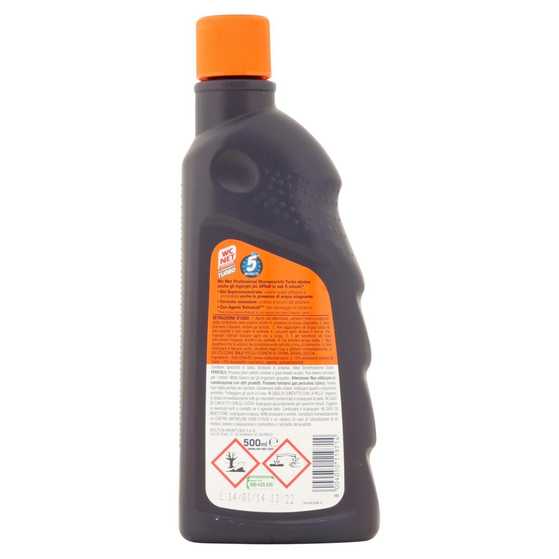 WC Net - sturascarichi Turbo, Gel superconcentrato para ingorghi difficili - 500 ml: Amazon.es: Alimentación y bebidas