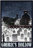 Godrics Hollow Retro Travel Poster 13 x 19in