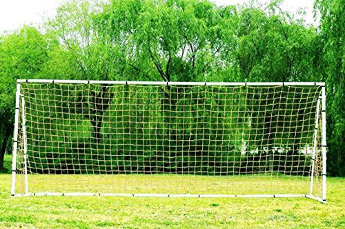 Pass 24 x 8 Ft. Official Size. Heavy Duty Steel Soccer Goal w/Net. Regulation MLS/FIFA Size Goals. Professional Practice Training Aid. 24×8 Foot. (2Net) Review