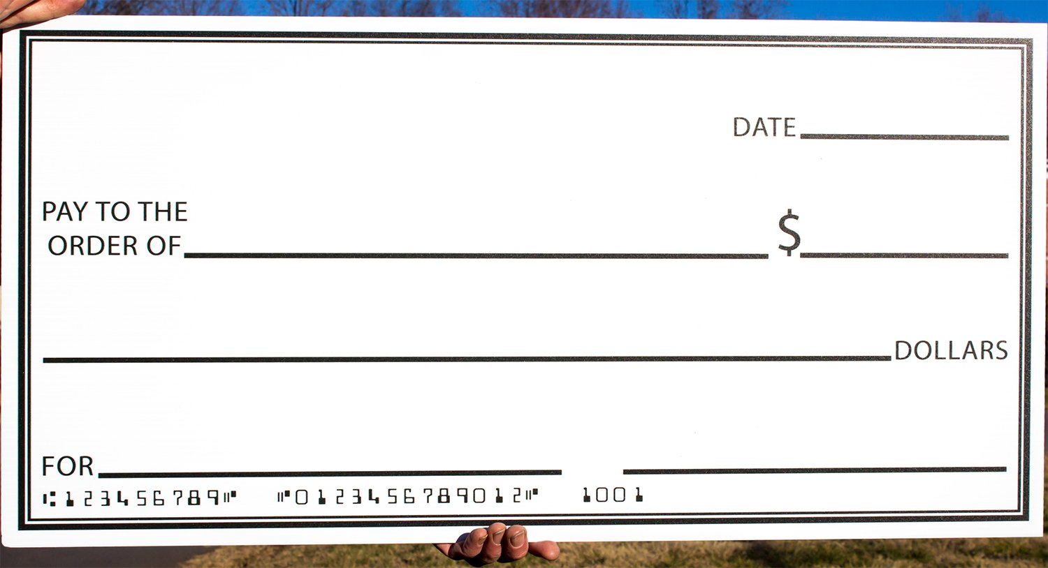 Oversized checks big check presentation big money could for Large fake check template